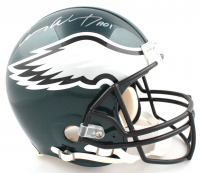 """Carson Wentz Signed Philadelphia Eagles Full-Size Authentic On-Field Helmet Inscribed """"A01"""" (Fanatics Hologram) (See Description) at PristineAuction.com"""