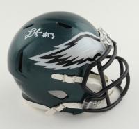Travis Fulgham Signed Eagles Speed Mini Helmet (JSA COA) at PristineAuction.com