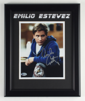 "Emilio Estevez Signed ""The Breakfast Club"" 13.5x16.5 Custom Framed Photo Display (Beckett Hologram) at PristineAuction.com"