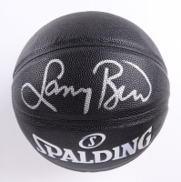 Larry Bird Signed NBA Basketball with Display Case (PSA COA) (See Description) at PristineAuction.com