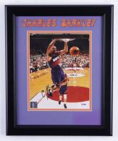 Charles Barkley Signed Suns 14x17 Custom Framed Photo Display (PSA COA) at PristineAuction.com