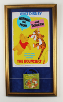 """Vintage Disney's """"Winnie the Pooh and Tigger Too"""" 18x31 Custom Framed Film Reel Display with Original 1974 Movie Poster at PristineAuction.com"""