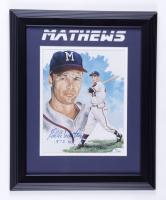 "Eddie Matthews Signed Braves 13.5x16.5 Framed Photo Inscribed ""512 HRs"" (JSA COA) at PristineAuction.com"
