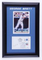 George Brett Signed 13x19 Custom Framed Postcard Display (JSA COA) (See Description) at PristineAuction.com