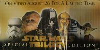 """David Prowse & John Morton Signed """"Star Wars Trilogy"""" 31x72 Double Sided Promotional Poster Inscribed """"Is Darth Vader"""" & """"DACK"""" (Beckett COA) (See Description) at PristineAuction.com"""