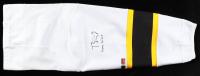 """Torey Krug Signed Bruins Hockey Leg Warmer Inscribed """"Game Worn"""" (YSMS COA & Krug Hologram) (See Description) at PristineAuction.com"""