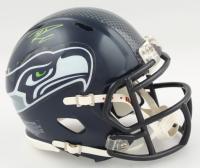 Russell Wilson Signed Seahawks Speed Mini Helmet (Wilson COA) (See Description) at PristineAuction.com