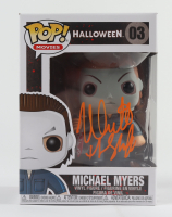 """Nick Castle Signed """"Halloween"""" #03 Michael Myers Funko Pop! Vinyl Figure Inscribed """"The Shape"""" (Beckett Hologram) at PristineAuction.com"""