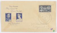 King George VI & Queen Elizabeth Visit Newfoundland 1939 FDC Envelope (See Description) at PristineAuction.com