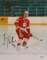 Joe Thornton Signed Sault Ste. Marie Greyhounds 8x10 Photo (YSMS COA) at PristineAuction.com