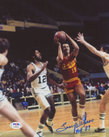 """Lenny Wilkens Signed Cavaliers 8x10 Photo Inscribed """"HOF 89"""" (PSA COA) at PristineAuction.com"""