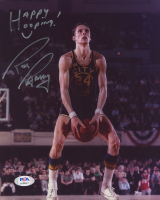 """Rick Barry Signed Warriors 8x10 Photo Inscribed """"Happy Hooping"""" (PSA COA) at PristineAuction.com"""