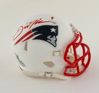Julian Edelman Signed Patriots Matte White Speed Mini Helmet (Beckett COA) at PristineAuction.com