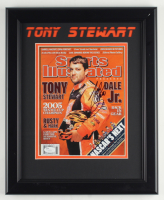 Tony Stewart Signed NASCAR 13.5x16.5 Custom Framed Photo Display (JSA COA) at PristineAuction.com