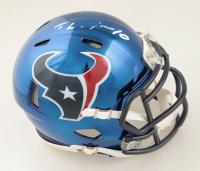 DeAndre Hopkins Signed Texans Chrome Speed Mini Helmet (JSA COA) (See Description) at PristineAuction.com