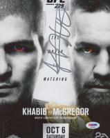 "Khabib Nurmagomedov Signed ""Khabib vs McGregor"" 8x10 Photo (PSA Hologram) at PristineAuction.com"