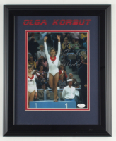 "Olga Korbut Signed Team Soviet Union 14x17 Custom Framed Photo Display Inscribed ""4x Gold"" (JSA COA) at PristineAuction.com"