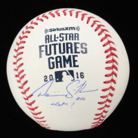 """Dominic Smith Signed OML 2016 Future's Game Baseball Inscribed """"LGM!"""" (PSA COA) at PristineAuction.com"""