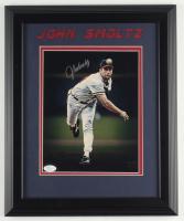 John Smoltz Signed Braves 13.5x16.5 Custom Framed Photo Display (JSA COA) at PristineAuction.com