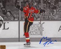 Matthew Tkachuk Signed Flames 8x10 Photo (Tkachuk COA) at PristineAuction.com