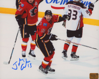 Johnny Gaudreau Signed Flames 8x10 Photo (Gaudreau COA) at PristineAuction.com