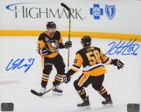 Conor Sheary Signed Penguins 8x10 Photo (Letang COA & Sheary COA) at PristineAuction.com