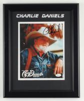 Charlie Daniels Signed 16x18 Custom Framed Photo Display (JSA COA) at PristineAuction.com