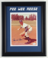 Pee Wee Reese Signed Dodgers 13.5x16.5 Custom Framed Photo Display (JSA Hologram) (See Description) at PristineAuction.com