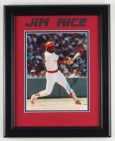 Jim Rice Signed Red Sox 13.5x16.5 Custom Framed Photo Display (JSA COA) (See Description) at PristineAuction.com