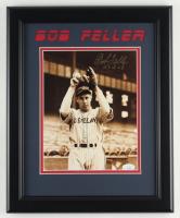 """Bob Feller Signed Indians 13.5x16.5 Custom Framed Photo Display Inscribed """"HOF 62"""" (JSA COA) at PristineAuction.com"""