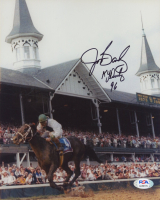 """Jerry Bailey Signed Bills 8x10 Photo Inscribed """"KY Derby 96"""" (PSA COA) at PristineAuction.com"""