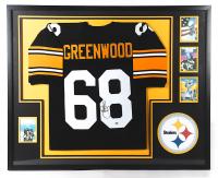 L. C. Greenwood Signed 34x41 Custom Framed Jersey (Beckett LOA) (See Description) at PristineAuction.com