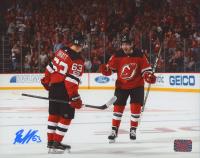 Jesper Bratt Signed Devils 8x10 Photo (Bratt COA) at PristineAuction.com