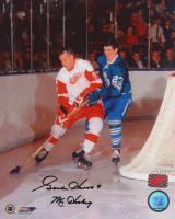 """Gordie Howe Signed Red Wings 8x10 Photo Inscribed """"Mr. Hockey"""" (YSMS COA) at PristineAuction.com"""