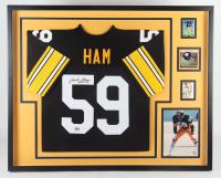"Jack Ham Signed 35x43 Custom Framed Jersey Display Inscribed ""HOF 88"" (Beckett LOA) at PristineAuction.com"