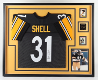 Donnie Shell Signed 35x43 Custom Framed Jersey Display (Beckett LOA) at PristineAuction.com