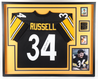 Andy Russell Signed 35x43 Custom Framed Jersey Display (Beckett LOA) at PristineAuction.com