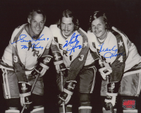 """Gordie Howe, Mark Howe & Marty Howe Signed Aeros 8x10 Photo Inscribed """"Mr. Hockey"""" (YSMS COA) at PristineAuction.com"""