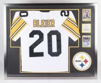 Rocky Bleier Signed 35x43 Custom Framed Jersey Display (Beckett LOA) (See Description) at PristineAuction.com