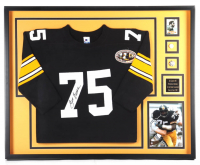"""Mean"" Joe Greene Signed 35x43 Custom Framed Jersey Display (Beckett LOA) at PristineAuction.com"