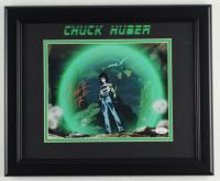 "Chuck Huber Signed ""Dragon Ball Z"" 13.5x16.5 Custom Framed Photo Display Inscribed ""17"" (JSA COA) at PristineAuction.com"