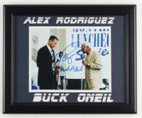 Alex Rodriguez & Buck O'Neil Signed 13.5x16.5 Custom Framed Photo Display (JSA COA) at PristineAuction.com