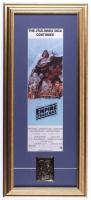 """""""Star Wars: The Empire Strikes Back"""" 12x27 Custom Framed Movie Poster with 24KT Gold Card (See Description) at PristineAuction.com"""
