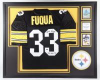"John Fuqua Signed 35x43 Custom Framed Jersey Display Inscribed 3X S.B. Champ"" (Beckett LOA) at PristineAuction.com"
