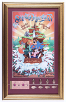 """Disney World """"Splash Mountain"""" 16x25 Custom Framed Display with Vintage Ticket Book & Set of (8) Coins at PristineAuction.com"""