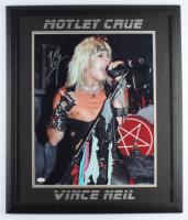 Vince Neil Signed 22.5x26.5 Custom Framed Photo Display (JSA COA) (See Description) at PristineAuction.com