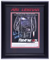 "Ari Lehman Signed ""Friday The 13th"" 13.5x16.5 Custom Framed Photo Inscribed ""Jason 1"" (JSA COA) at PristineAuction.com"
