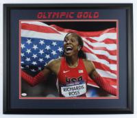 "Sanya Richards-Ross Signed 22.5x26.5 Custom Framed Photo Display Inscribed ""USA #1"" (JSA COA) (See Description) at PristineAuction.com"