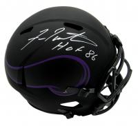 "Fran Tarkenton Signed Vikings Full-Size Eclipse Alternate Speed Helmet Inscribed ""HOF 86"" (Beckett COA) at PristineAuction.com"