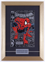"""1990 """"Spider-Man"""" Issue #1 Marvel Comic Book 12x16.5 Custom Framed Display (See Description) at PristineAuction.com"""